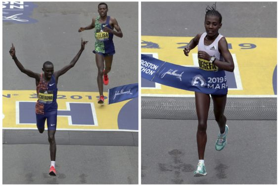 Boston Marathon winners 2019 AP