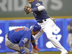 Cubs Brewers Baseball