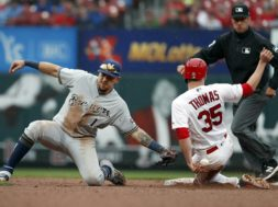 Brewers Perez Cardinals Thomas AP