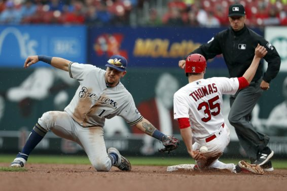 Brewers Perez Cardinals Thomas AP