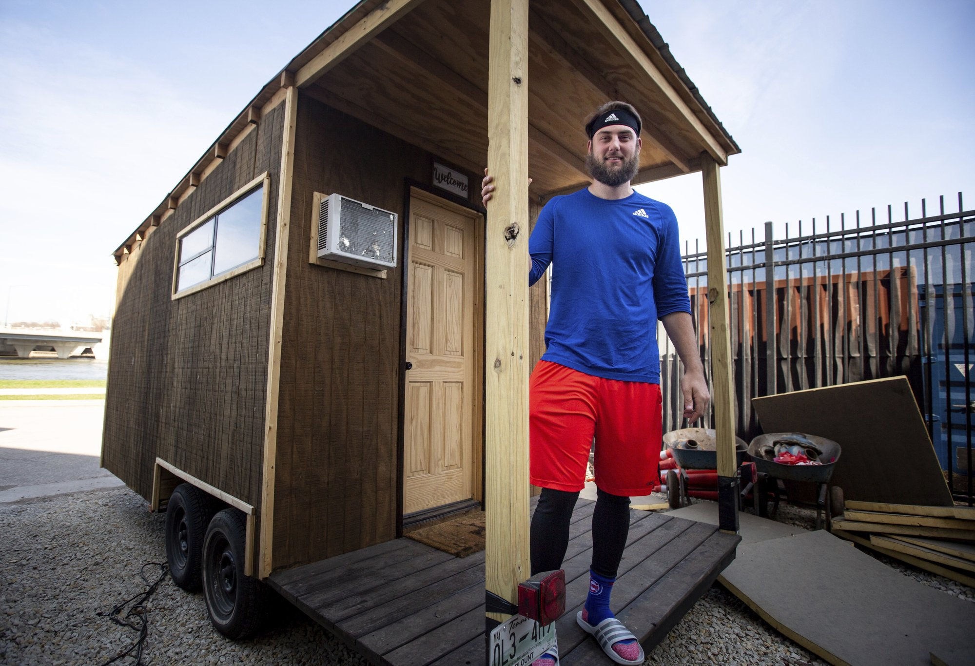 Iowa Cubs pitcher finds peace in low-cost tiny home he built