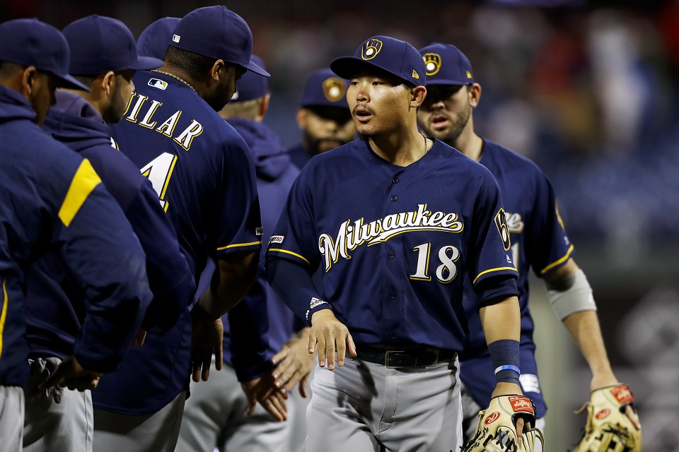 Brewers Hiura delivers in debut, while Woodruff tosses 1-hit ball over 6 in win