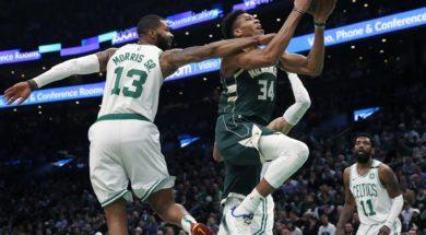 Giannis Celtics Marcus Morris AP