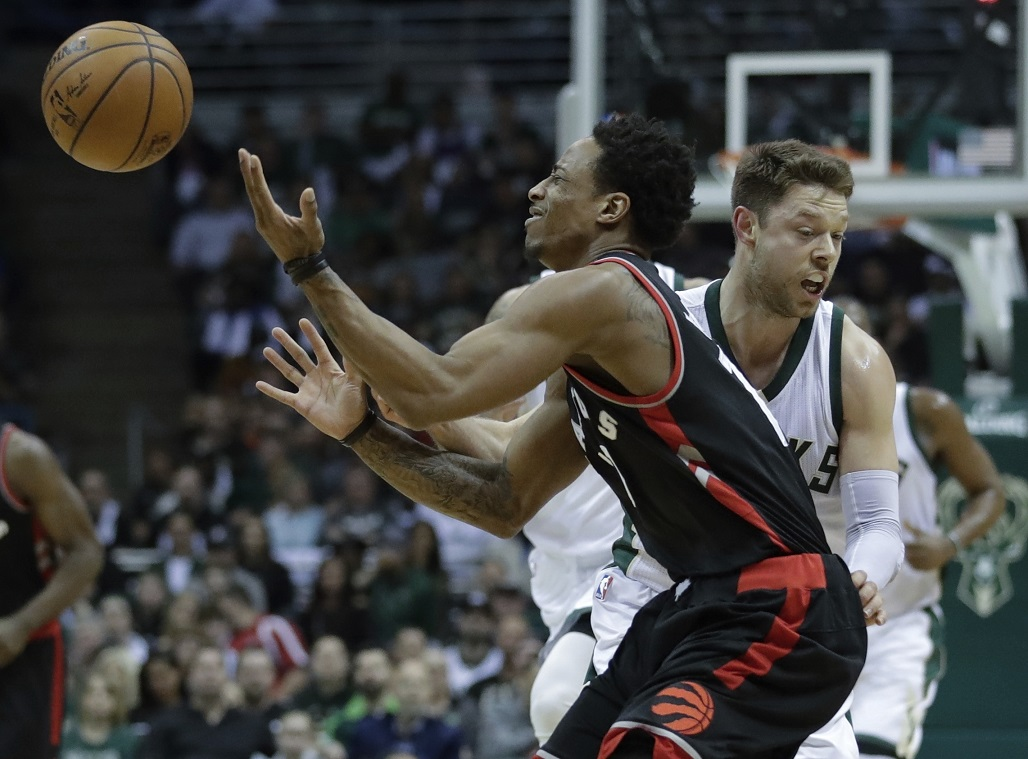 RAPTORS-BUCKS: A repeat of 2017 playoff matchup but, this time, Milwaukee doesn't have Dellavedova