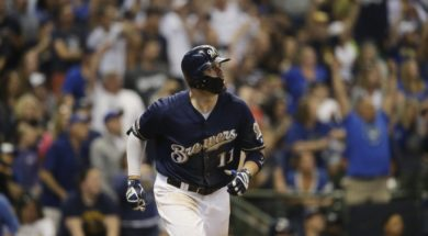 Brewers Mike Moustakas HR AP