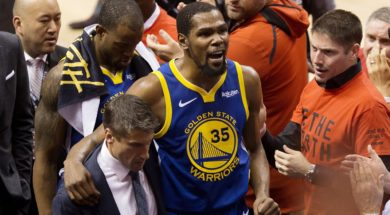 Kevin Durant injured AP