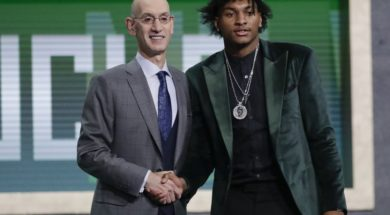 NBA Draft Adam Silver Kevin Porter AP