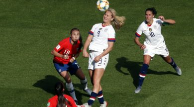 USA soccer Lindsey Horan AP