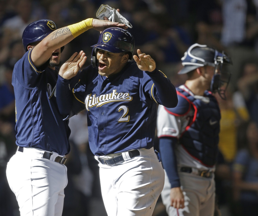 Rookie Grisham's 3-run homer lifts Brewers over Twins, 6-5