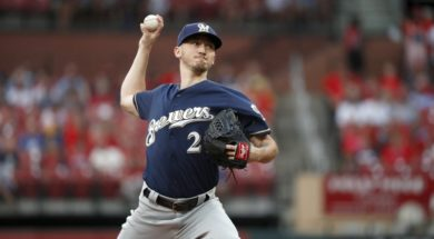 Brewers Zach Davies AP