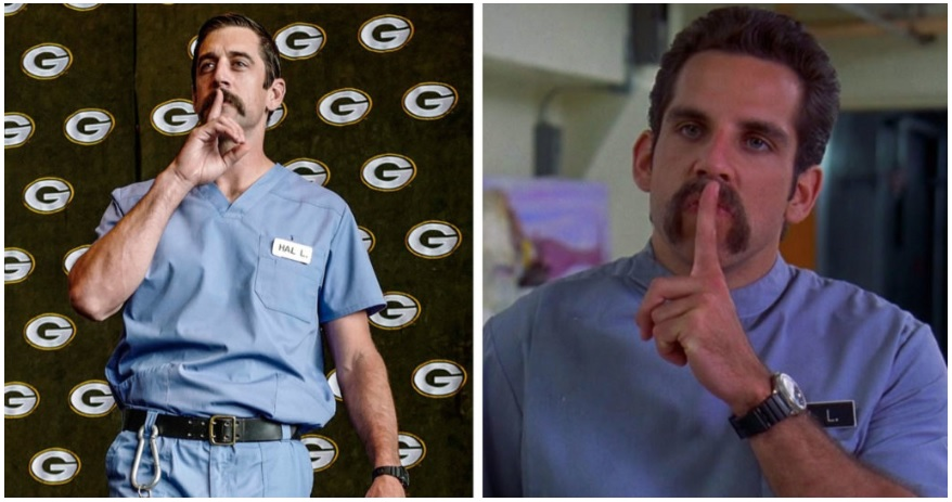 WATCH: Rodgers and Co. show up as Happy Gilmore characters — a sports movie Dave didn't even have in his Top 10