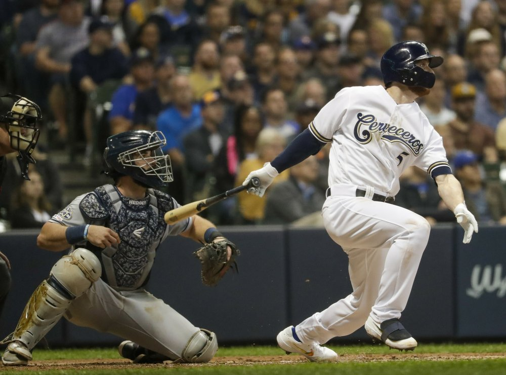 Spangenberg steps in to lead offense, while Brewers staff pitches two-hitter