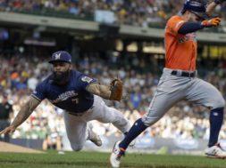 Astros Brewers Baseball