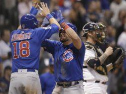 Cubs Schwarber Zobrist five AP