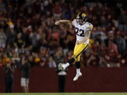 Iowa punter Michael Sleep-Dalton AP