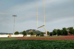 UWL football stadium goal posts
