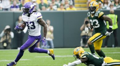 Vikings Dalvin Cook v Packers AP