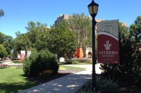 Viterbo University campus sign