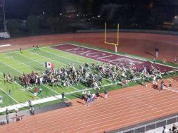 fans rush field
