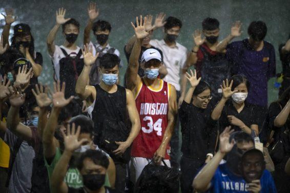 Hong Kong protesters AP