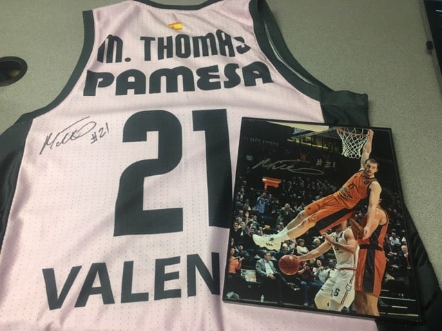 WKTY AUCTION: Bid to win NBA's and Onalaska's Matt Thomas signed Valencia jersey