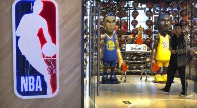 NBA China store AP