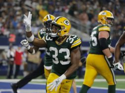 Packers Aaron Jones cowboys AP