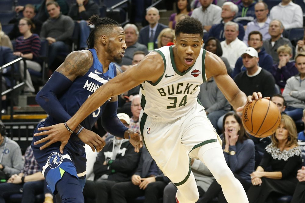 Antetokounmpo leads Bucks past Timberwolves 134-106
