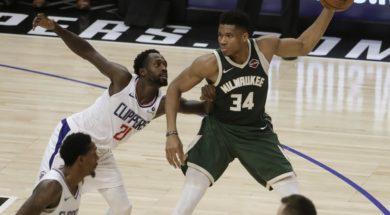 Bucks Giannis vs. Clippers Beverley AP