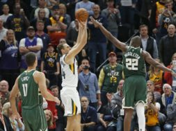 Jazz Bogdanovic winner Bucks Middleton AP