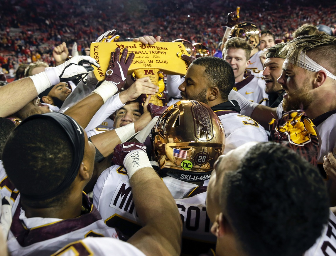 After 129 years, Badgers-Gophers battle for axe, exactly tied, 60-60-8