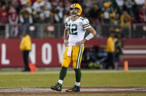 Packers Aaron Rodgers alone AP