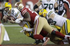 Packers Rodgers sacked 49ers Niners AP