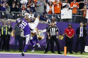 Vikings Trae Waynes Broncos Tim Patrick AP