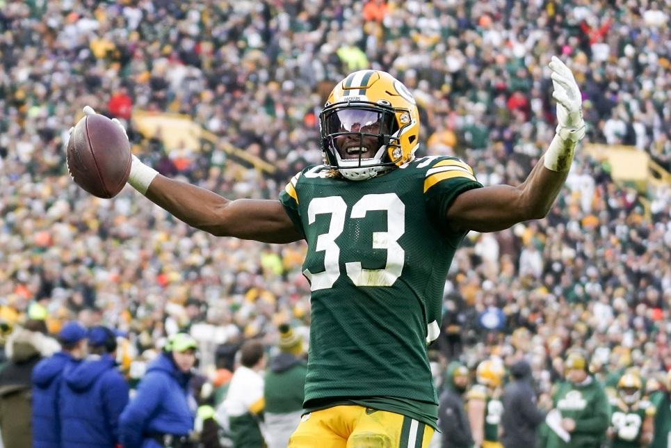 Aaron Jones leads Packers past Washington, 20-15