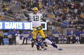 Packers Aaron Rodgers v Giants