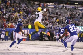 Packers Davante Adams v Giants AP