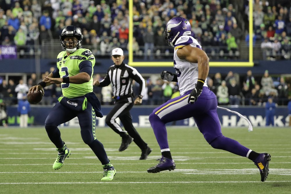 Seahawks take over 1st place in NFC West, beat Vikings 37-30