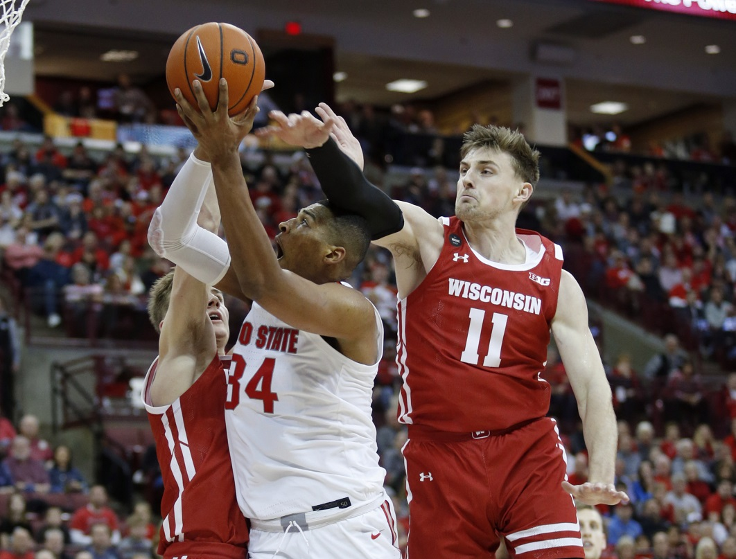 King scores 13 as Badgers rally to upset No. 5 Ohio State