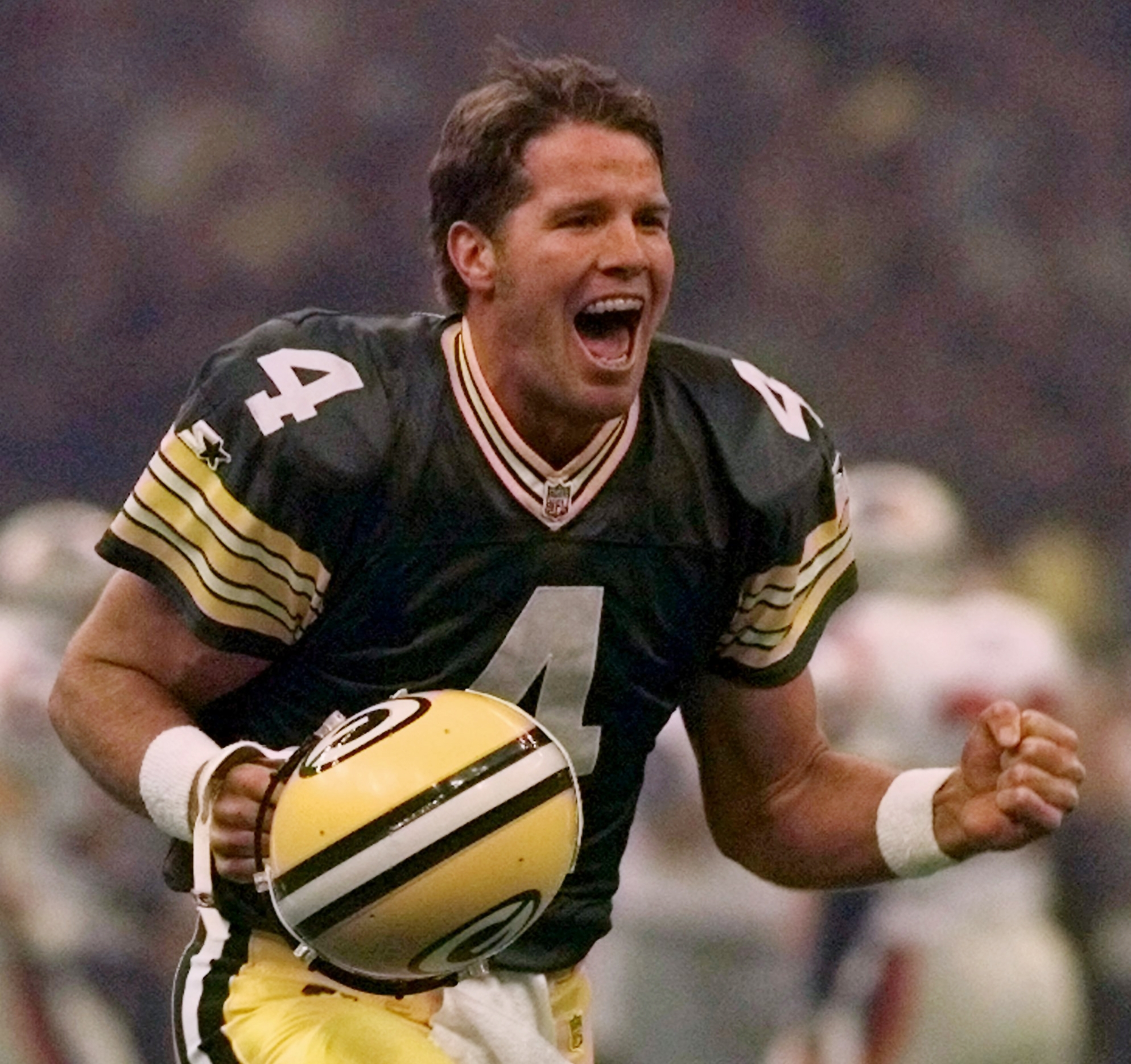 "A legend is born: Brett Favre takes over for ""Magic"" Don Majkowski."