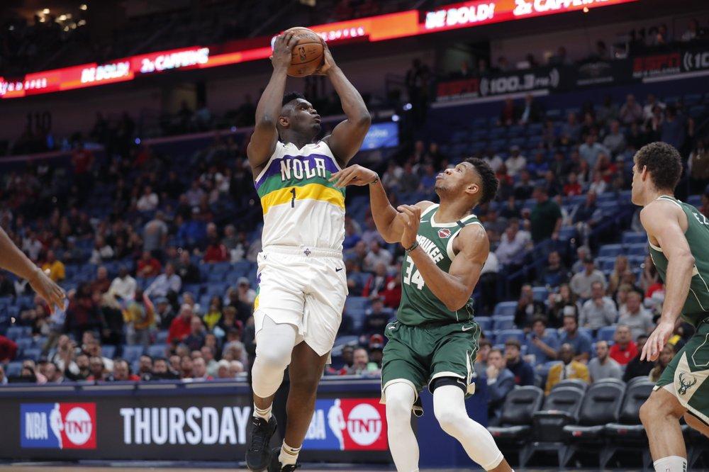 Giannis has 34 points, 17 rebounds as Bucks top Pelicans