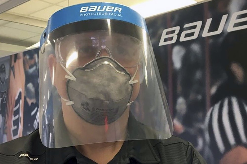 Hockey equipment maker Bauer shifts to medical shields
