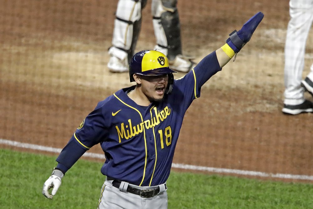 Brewers rally past Pirates 6-5 in 11 innings