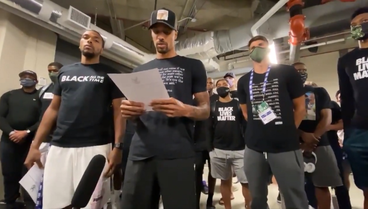WATCH: Milwaukee Bucks call for justice, demand lawmakers take action and officers be held accountable