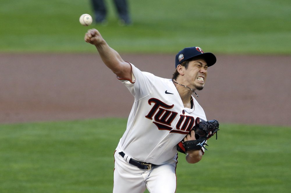 Maeda's no-hitter ends in 9th, as Twins top Brewers in 12