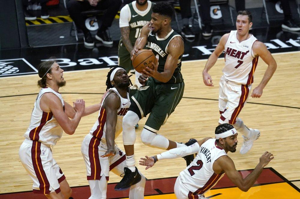 Heat avenge embarrassment, rally to top Bucks 119-108
