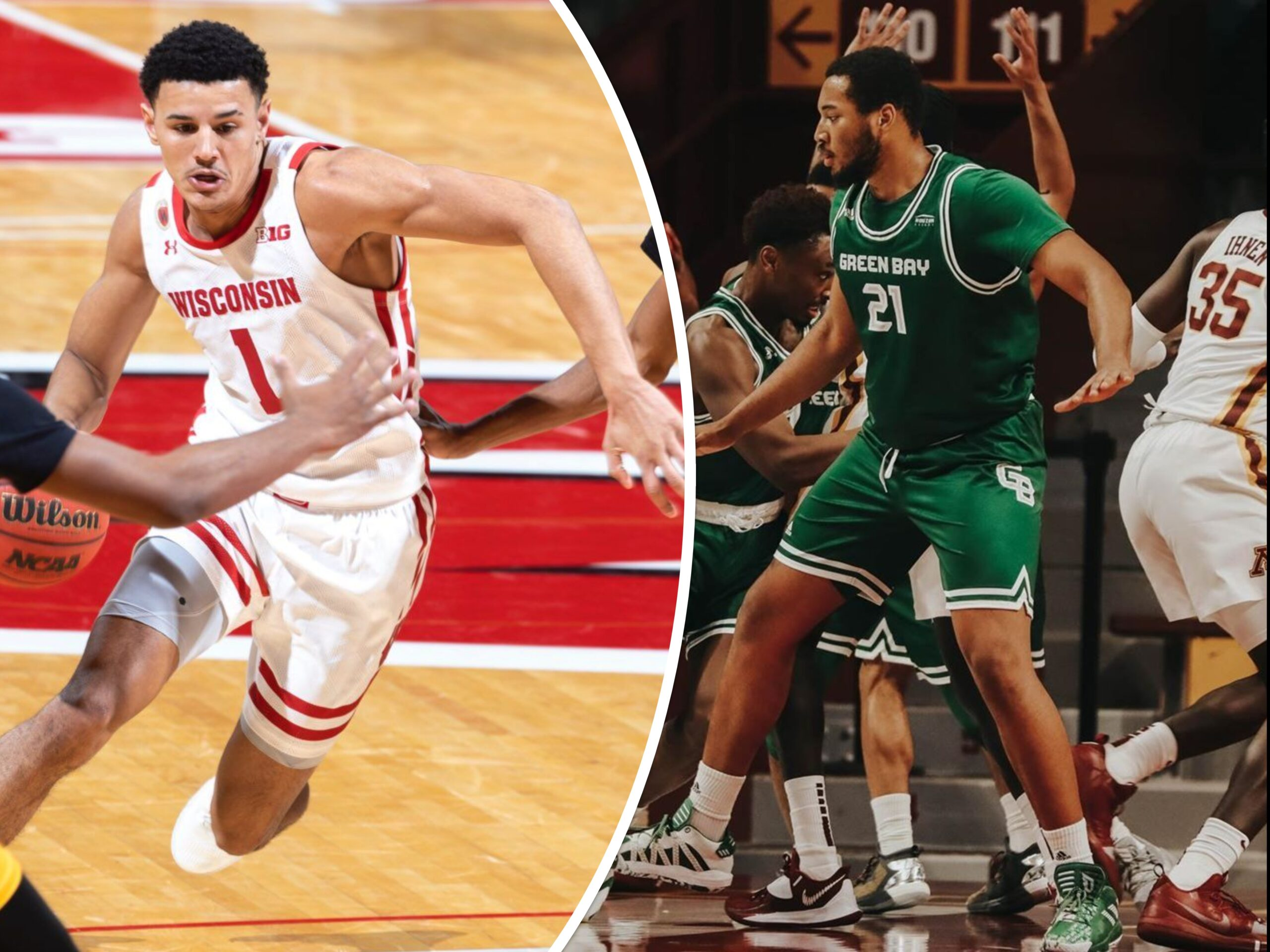 La Crosse Central grads — already playing as true freshmen — could meet Tuesday, as Badgers host UW-GB