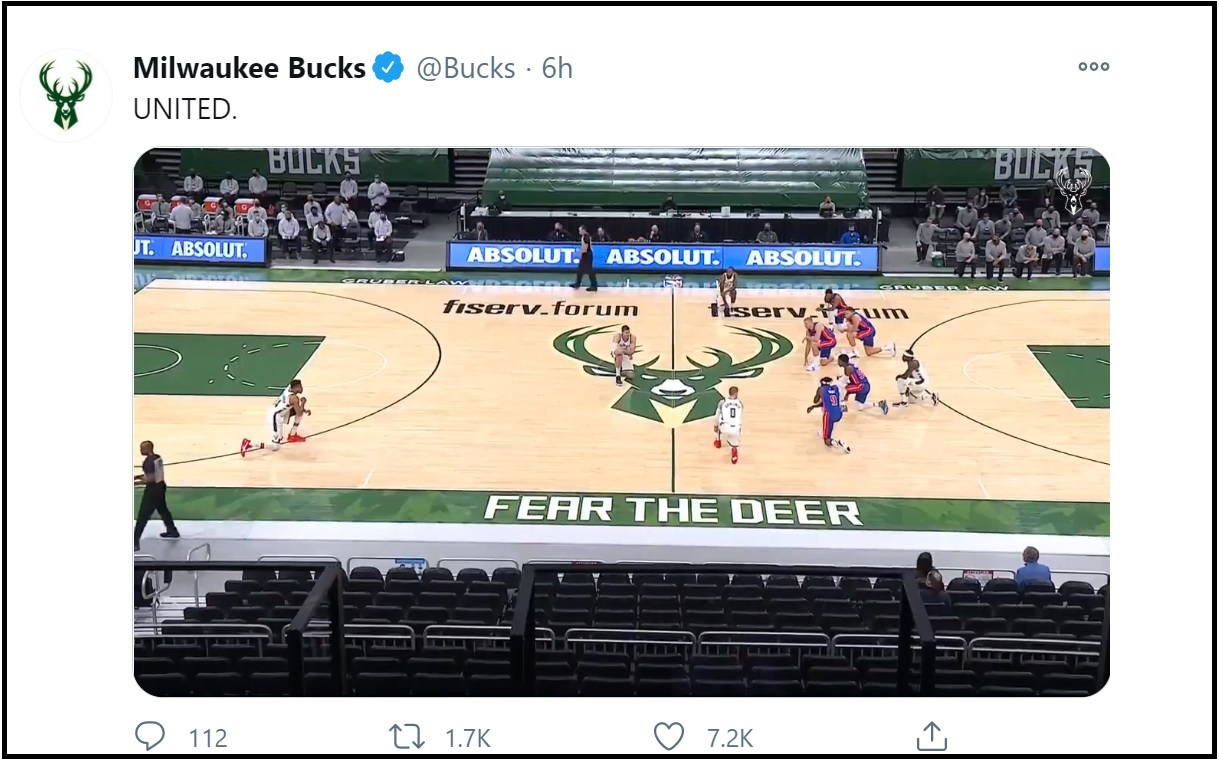 Bucks, Pistons each kneel on 1st possession in protest