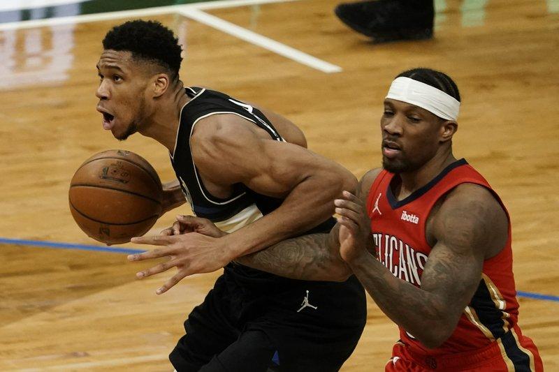 Antetokounmpo scores 38 as Bucks outlast Pelicans 129-125