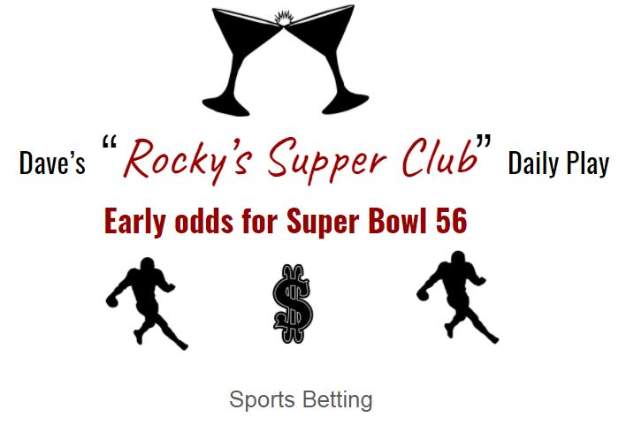 Chiefs, Pack and Bucs top 3 in Super Bowl 56 odds.